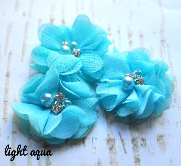 Petite Chiffon Flowers-Pick Your Color