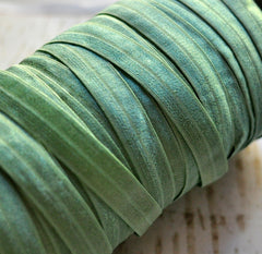 "*NEW* Solid 5/8"" Foldover Elastic by the Yard-Pistachio"