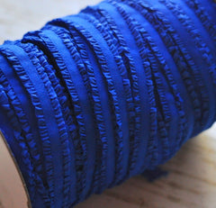 "3/8"" Ruffled Elastic by the Yard - Royal"