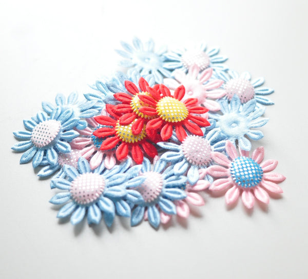 Padded Daisy Appliques - Pick Your Color