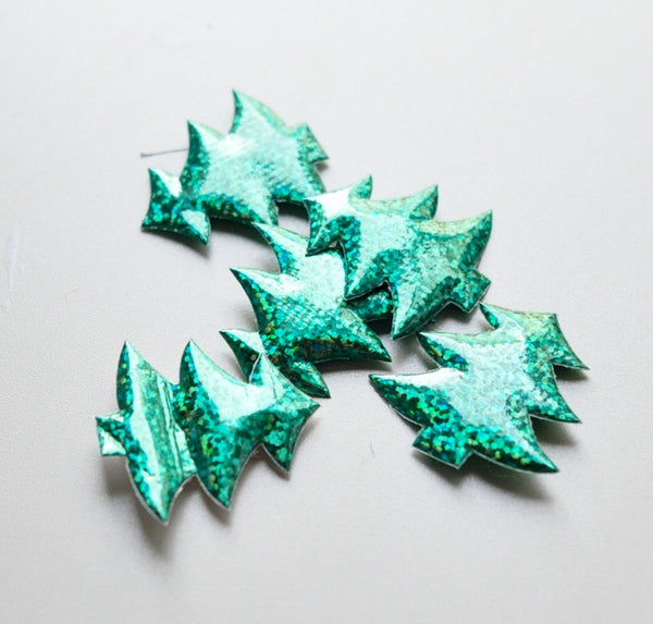 Padded Sparkle Appliques - Christmas Tree