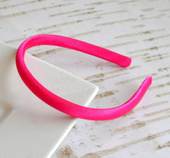 Satin Doll Headband Hot Pink