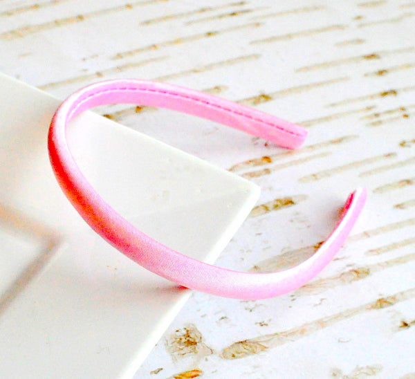 Satin Doll Headband Ice Pink