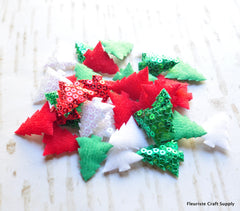 Sequined Christmas Tree Appliques - Pick Your Color
