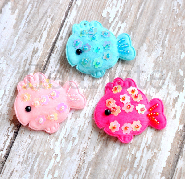 Padded Fish Appliques-Pick Your Color