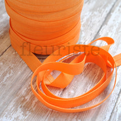 "Solid 5/8"" Foldover Elastic by the Yard-Creamsicle"