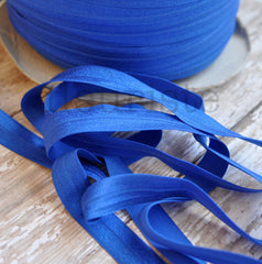"Solid 5/8"" Foldover Elastic by the Yard-Royal"