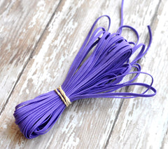 "1/8"" Skinny Elastic by the Yard-Purple"