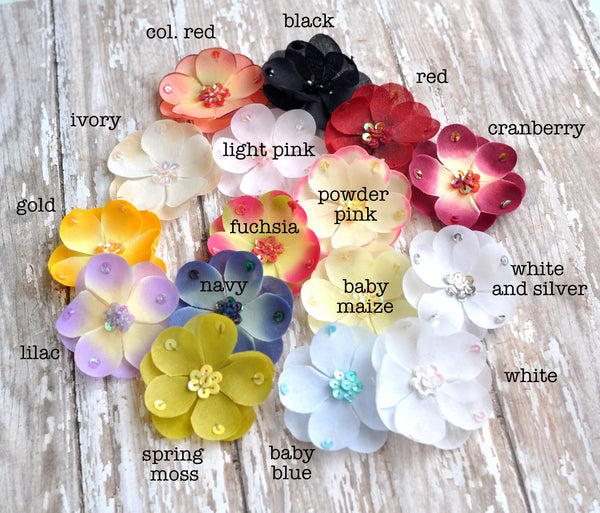 Small Sequined Flower-Pick Your Color