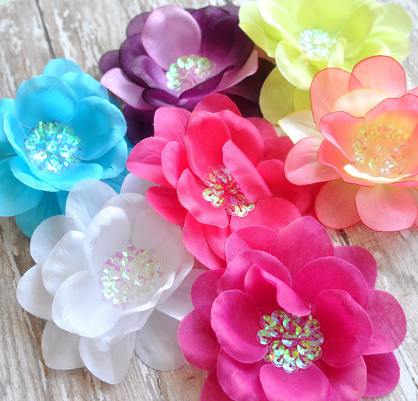 Sequin Centered Flowers-Pick Your Color