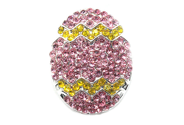 Easter Egg Rhinestone Button 23mm by 18 mm Slider