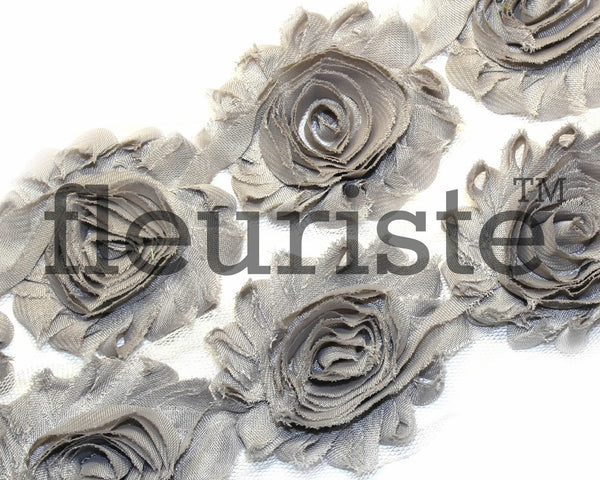 Solid Shabby Rose Trim-Gray