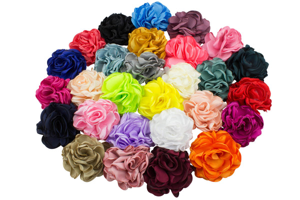 "Singed Satin Fluffs 3.5""- Choose Your Colors"