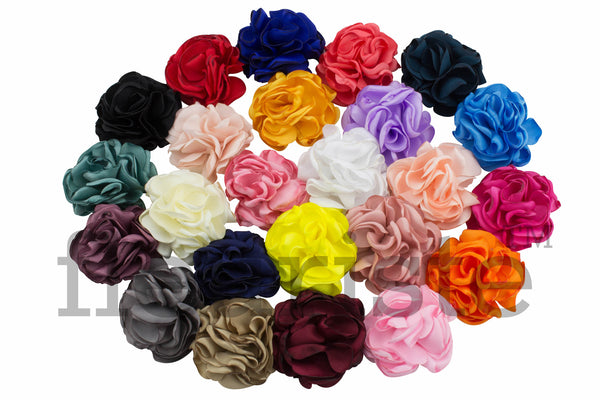 "Singed Satin Fluffs 2""- Choose Your Colors"