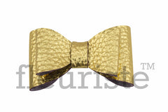 "2.5"" Leather Bows - Gold or Hot Pink"