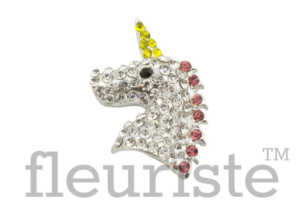Unicorn Rhinestone Button-30 mm by 20 mm