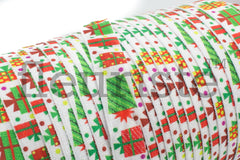 "Christmas Fold Over Elastic-5/8"" Width-Christmas Gifts on white"