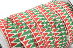 "Christmas Fold Over Elastic-5/8"" Width- Red Green Christmas Trees"
