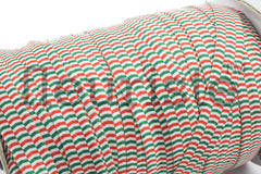 "Christmas Fold Over Elastic-5/8"" Width- Red Green Zig Zags"