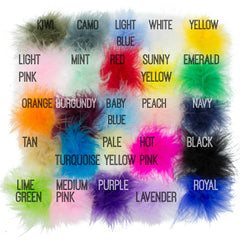 Marabou Puffs-meduim - Pick Your Color