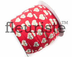 "St Valentines Patterned Fold Over Elastic-5/8"" Width-Red Gold Love"