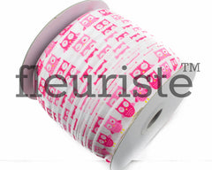 "Owls Printed Fold Over Elastic-5/8"" Width O01"