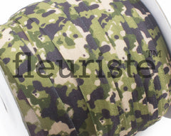 "Printed Fold Over Elastic-5/8"" Width Camouflage Camo Military"