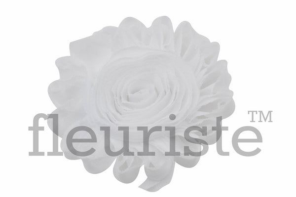 "4"" Extra Large Solid Shabby Rose Trim-White"