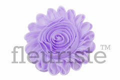 "4"" Extra Large Solid Shabby Rose Trim-Lavender"