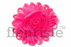 "4"" Extra Large Solid Shabby Rose Trim-Hot Pink"