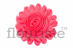 "4"" Extra Large Solid Shabby Rose Trim-Neon Pink"