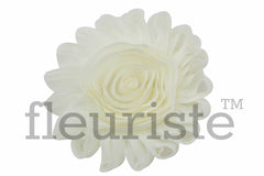 "4"" Extra Large Solid Shabby Rose Trim-Ivory"