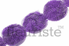 Solid Shabby Flower Trim-Purple