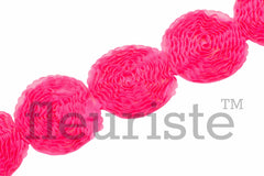 Solid Shabby Flower Trim-Hot Pink