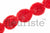 Solid Shabby Flower Trim-Red