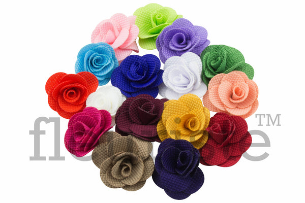 Fabric Felt Flowers 1.5 inch - Pick Your Color