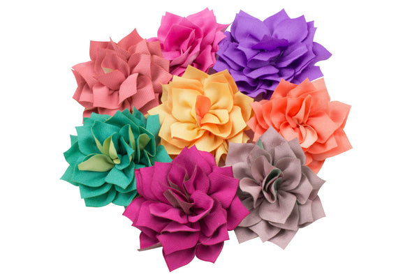 "2.75"" Kanzashi Flower - Pick Your Color"