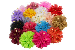 "3"" Balllerina Flower with Gold Dots - Pick Your Color"
