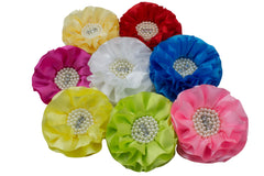 "5"" Extra Large Satin Flower - Pick Your Color"