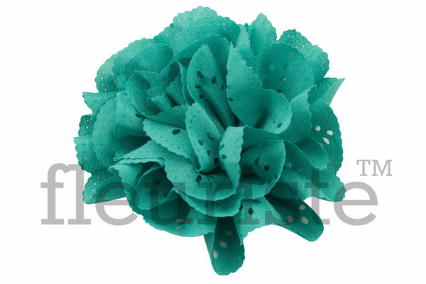 Eyelet Flowers 3 inch - Pick Your Color