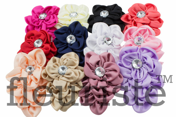 Satin Flower 4 inch - Pick Your Color