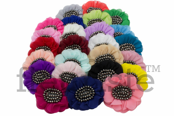 Chiffon Flowers 4 inch - Pick Your Color