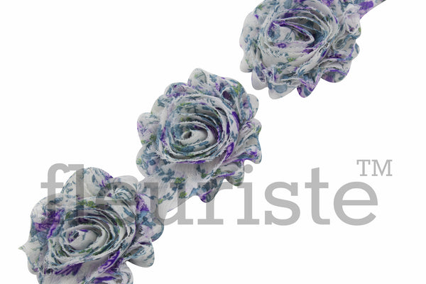 Patterned Shabby Trim by the Yard- Lavender Blossom