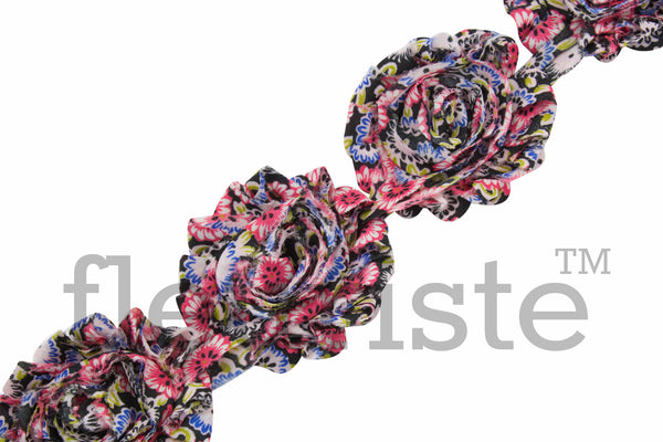 Patterned Shabby Trim by the Yard- Floral 141