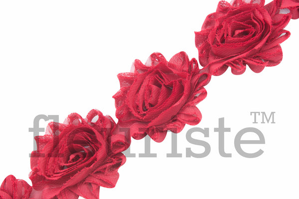 Solid Shabby Rose Trim - Strawberry