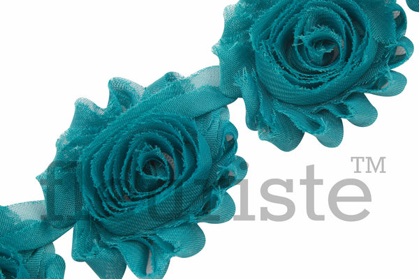 Solid Shabby Rose Trim - Teal