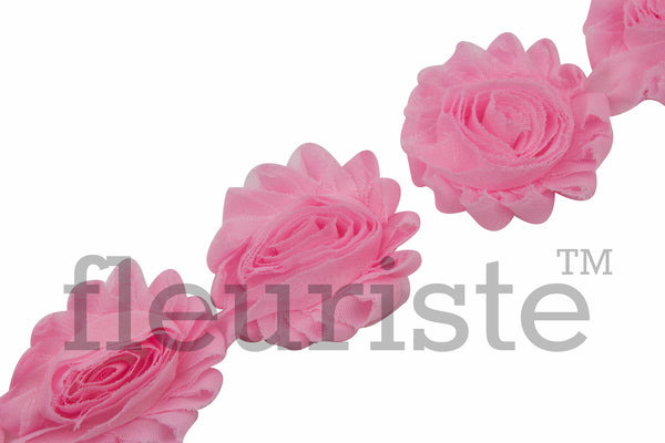 Solid Shabby Rose Trim - Barbie Pink