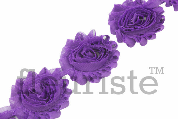 Solid Shabby Rose Trim - Grape