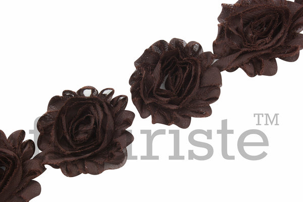 Solid Shabby Rose Trim - Brown