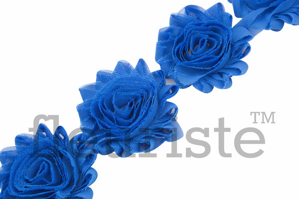 Solid Shabby Rose Trim - Cobalt Blue